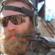 Svenskt soldatskägg i Afghanistan
